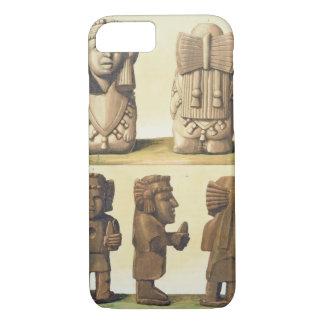 Aztec Idols, Mexico (colour lithograph) iPhone 8/7 Case