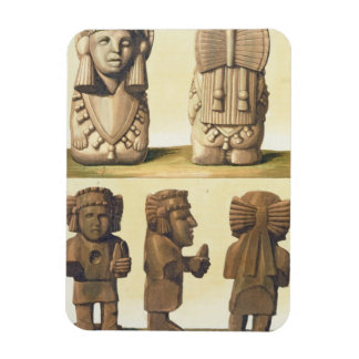 Aztec Idols, Mexico (colour lithograph) Magnet