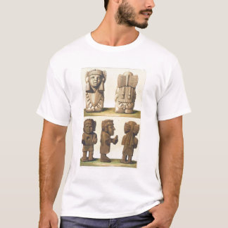 Aztec Idols, Mexico (colour lithograph) T-Shirt
