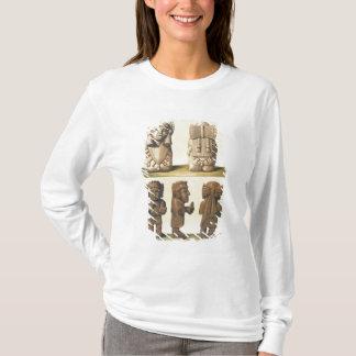 Aztec Idols, Mexico (colour lithograph) T-Shirt