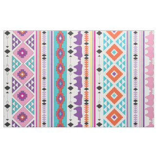Aztec Indian Tribal pattern Fabric
