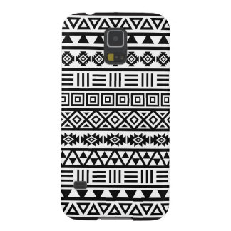 Aztec Influence Pattern Black on White Case For Galaxy S5