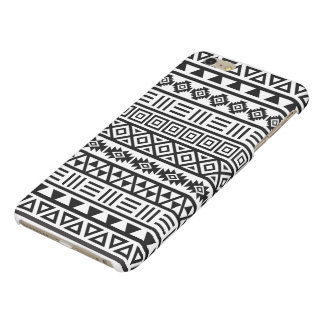 Aztec Influence Pattern Black on White iPhone 6 Plus Case