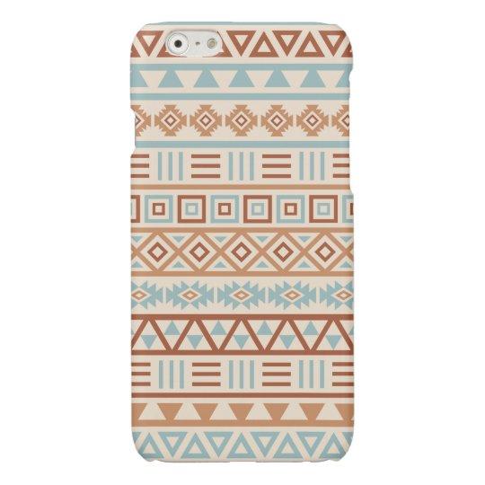 Aztec Influence Pattern Cream Blue Terracottas iPhone 6