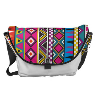Aztec inspired pattern courier bag