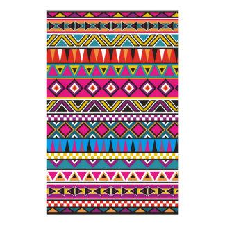 Aztec inspired pattern custom stationery