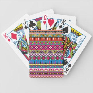 Aztec inspired pattern poker deck