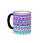 Aztec inspired pattern ringer mug