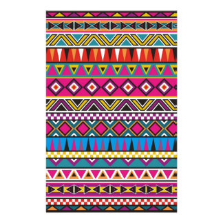 Aztec inspired pattern custom stationery