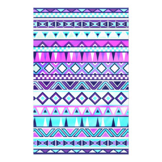 Aztec inspired pattern personalized stationery