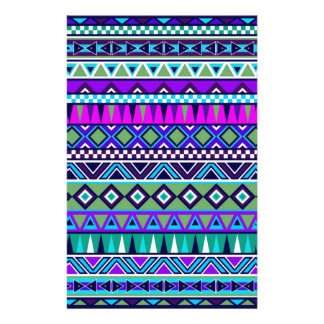 Aztec inspired pattern stationery paper
