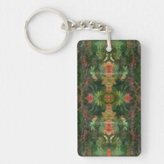 Aztec Jungle Single-Sided Rectangular Acrylic Keychain