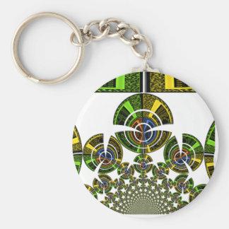 Aztec Basic Round Button Key Ring