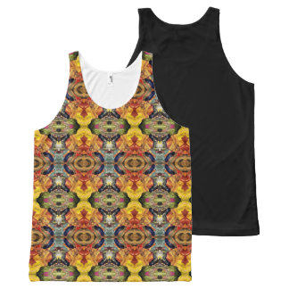 Aztec Lioness All-Over Print Tank Top