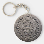 Aztec MAYAN CALENDAR Stone - December 21, 2012 Keychain