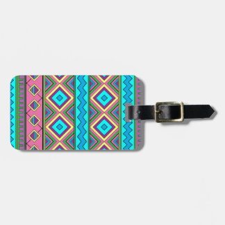 Aztec mayan pattern luggage tag