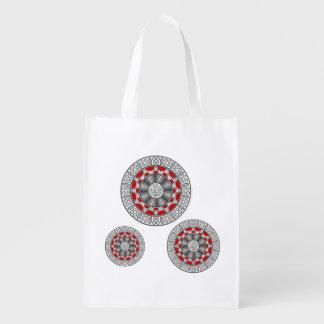 Aztec Meets Alien Reusable Grocery Bag Reusable Grocery Bags