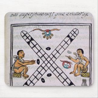 Aztec men gambling Patoli Mouse Mat