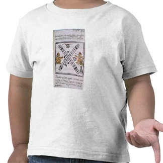 Aztec men gambling Patoli T-shirt