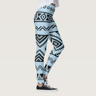 Aztec Mexican abstract pattern Leggings
