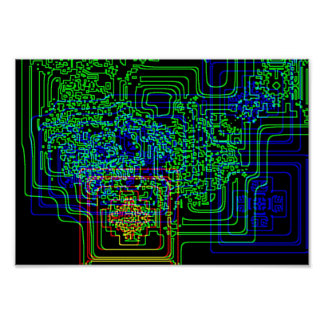 Aztec Microchip Poster