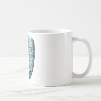 Aztec Mosaic Mask Basic White Mug