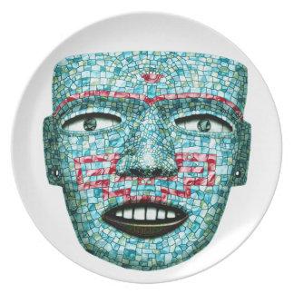 Aztec Mosaic Mask Plate