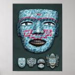Aztec Mosaic Masks Poster