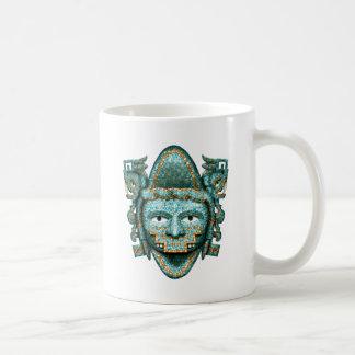 Aztec Mosaic Quetzalcoatl Mask Basic White Mug