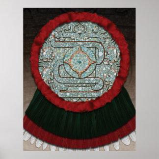 Aztec Mosaic Shield Poster