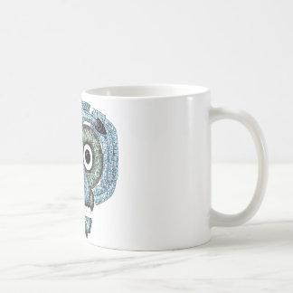 Aztec Mosaic Tlaloc Mask Basic White Mug
