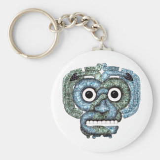 Aztec Mosaic Tlaloc Mask Key Ring