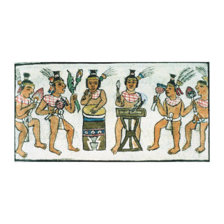 Aztec musicians from an account of Aztec Canvas Print