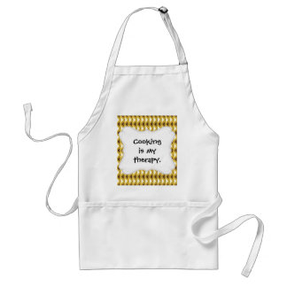 Aztec Native American Tribal Gold Brown Triangles Adult Apron