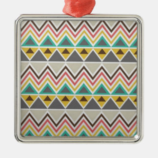 Aztec Native American Tribal Zigzags Design Style Christmas Ornament