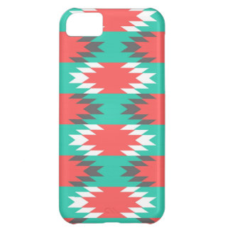 Aztec Native American Turquoise and Pink Pattern iPhone 5C Case
