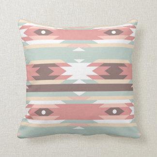 Aztec native pattern multi natural colors modern throw cushion