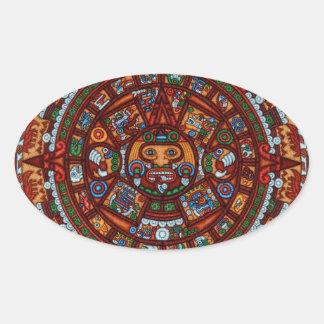 Aztec Oval Sticker