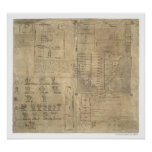 Aztec Oztoticpac Lands Map 1540 Poster