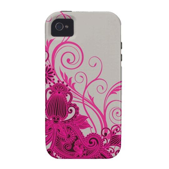 Aztec Paisley designer - fuschia grey Vibe iPhone 4 Cover