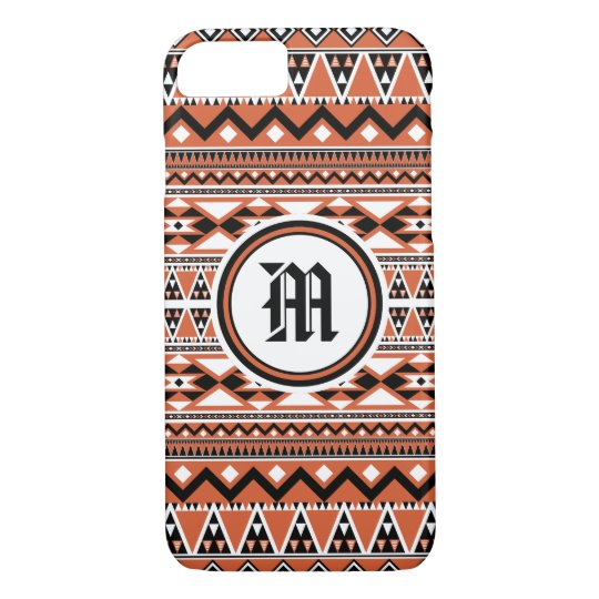 Aztec Pattern BOW (Personalise Monogram) iPhone 8/7 Case