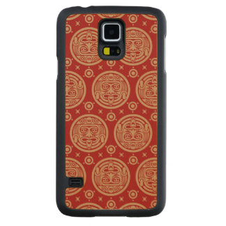 Aztec Pattern Carved Maple Galaxy S5 Case