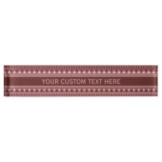 Aztec Pattern custom desk plates