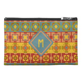 Aztec Pattern Custom Initial Travel Bag Travel Accessories Bag