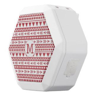Aztec Pattern custom monogram bluetooth speakers