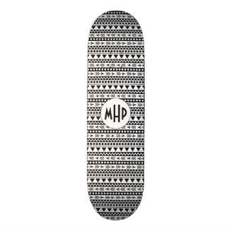 Aztec Pattern custom monogram skateboards