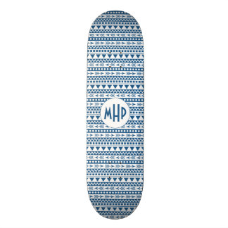 Aztec Pattern custom monogram skateboards