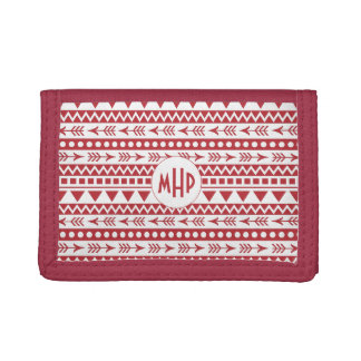 Aztec Pattern custom monogram wallets