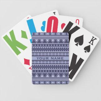 Aztec Pattern custom playing cards