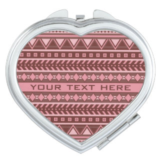 Aztec Pattern custom pocket mirror Travel Mirror